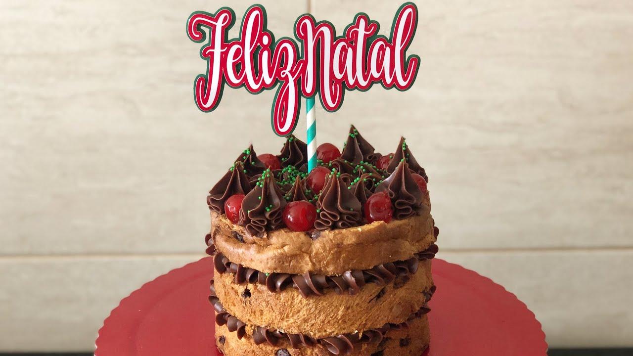 Naked Cake de Chocolate com Brigadeiro Gourmet Trufado com