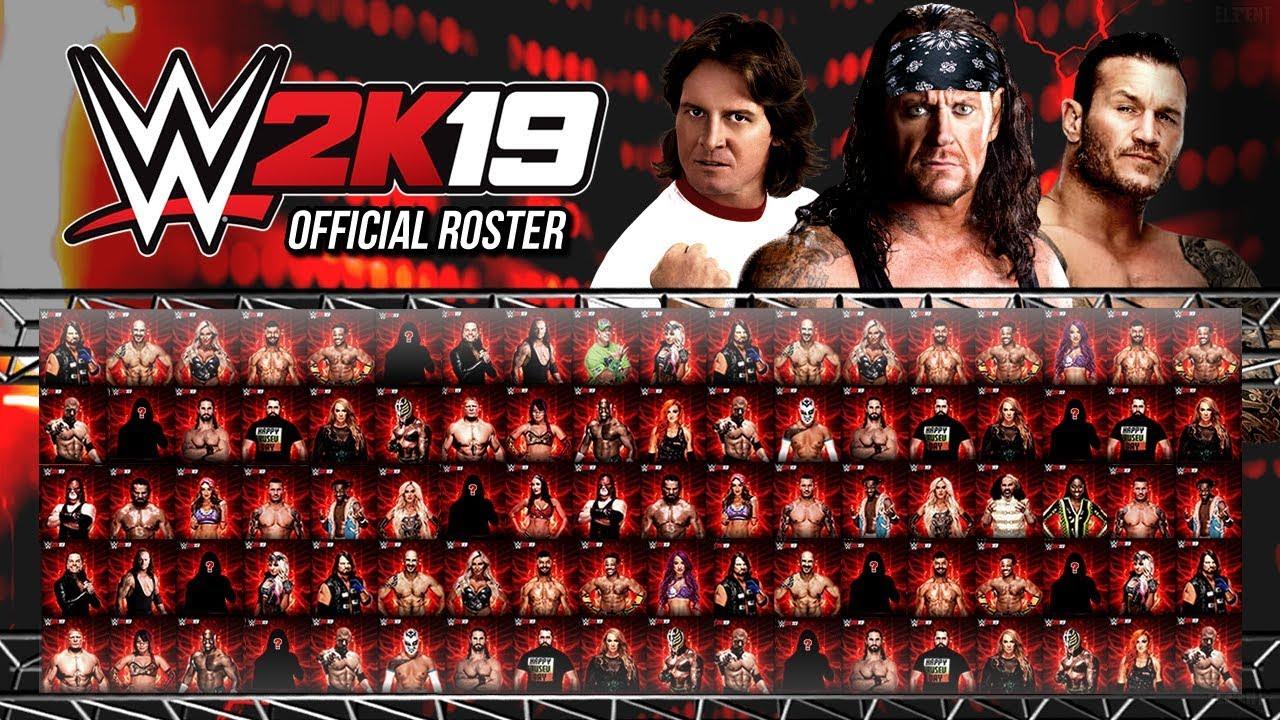 WWE 2K19 Official Roster All Confirmed Superstars So Far (WWE 2K19 News)