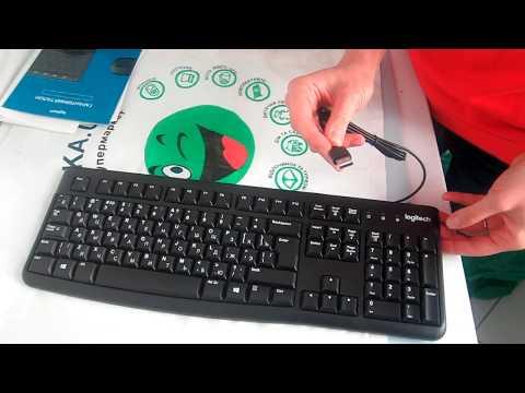 Клавиатура проводная Logitech K120 USB RUS OEM (920-002522)