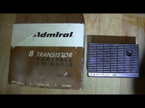 Admiral 8 Transistor Vintage AM Pocket Radio