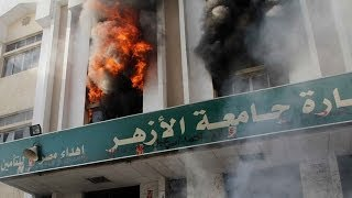 Egypt: Al-Azhar University buildings set ablaze during student protest