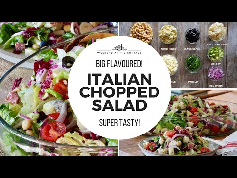 The best CHOPPED SALAD recipe ever!