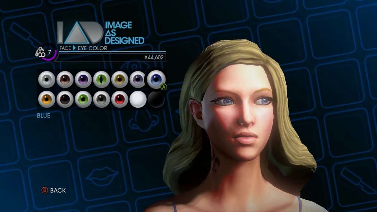 Saints Row 4 Female Beauty Face Customization attributes ...