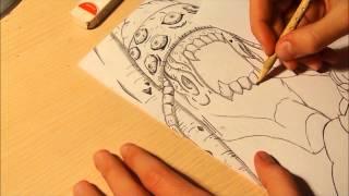 Drawing: Tobi (Obito) and Gedo Mazo Statue