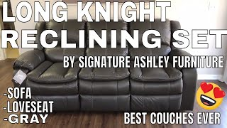 Long Knight Reclining Set By Signature Ashley Furniture