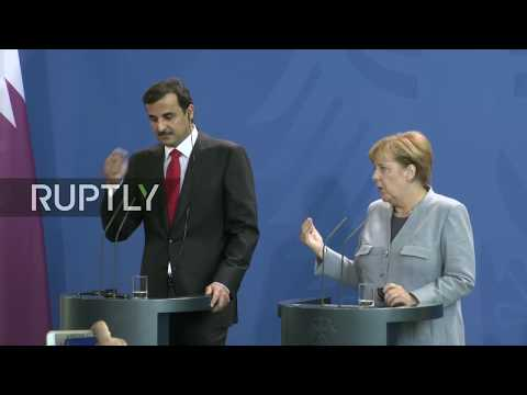 LIVE: Merkel holds joint statement with Qatari Emir