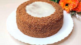 БЕЗ ДУХОВКИ 5 лет готовлю этот ПОТРЯСАЮЩИЙ БЮДЖЕТНЫЙ торт Без печенья и без желатина