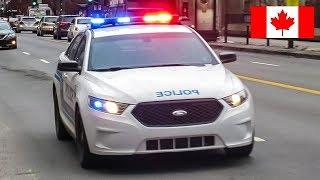 Montréal | Montréal Police Service (SPVM) Metro Section Unit 50-3 Responding Code 3 Through Traffic