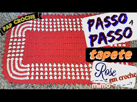 💗PAP TAPETE ROSE  CROCHE - Tapete BICOLOR- DIY- TUTORIAL COMPLETO