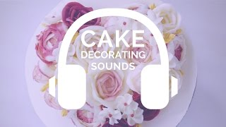{NO MUSIC} Valentine's Day flower cake - ASMR cake decorating sounds