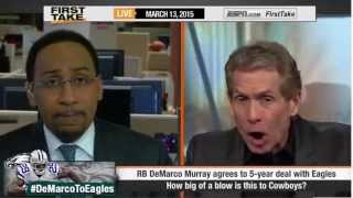 ESPN First Take - How Much Of A Blow In DeMarco Murray Signs With Eagles to Dallas Cowboys ?
