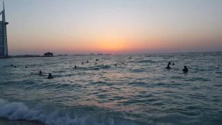 Jumeirah beach sunset burj al arab