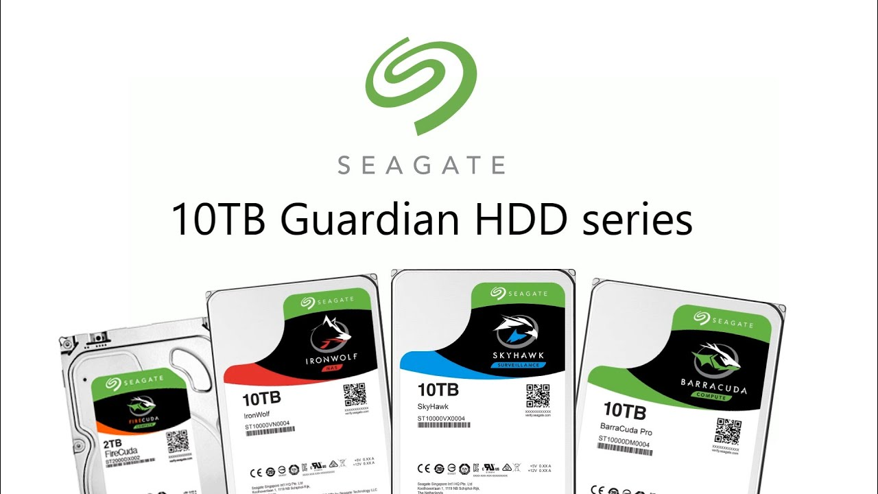 The Seagate 10tb Guardian Series Hdds Explained Ironwolf Skyhawk Hardisk Skyhawlk 1tb Firecuda And Barracuda Drives Youtube