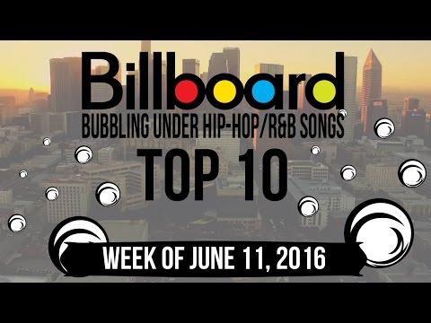 Top 10 - Billboard Bubbling Under Hip-Hop/R&B Songs   Week of June 11, 2016
