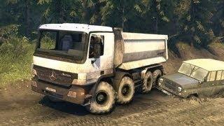 SpinTires : Mercedes Benz Actross 8x8 Dump Truck