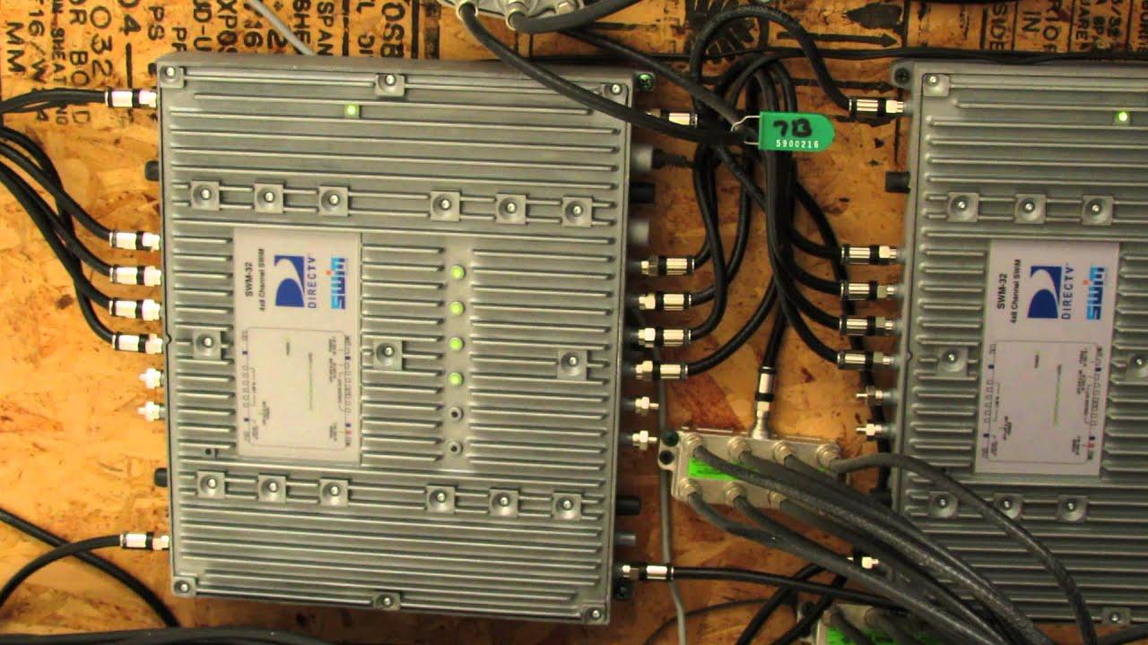 DirecTV Setup Using 2 SWM32 Switch Cascading  YouTube