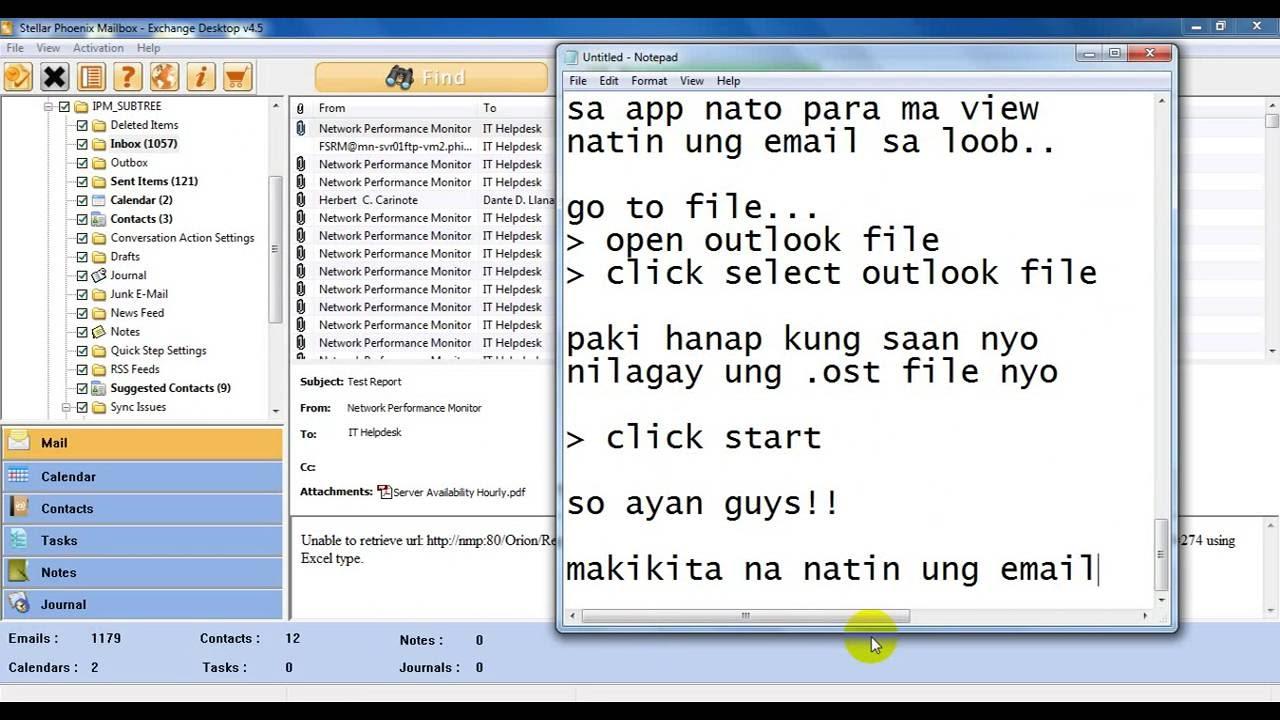FLOTECH TUTORIAL: OST to PST Viewer (Outlook)