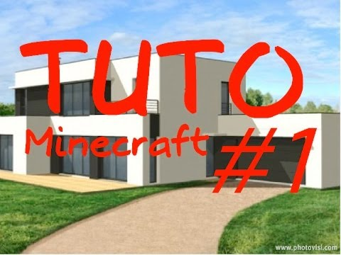 minecraft tuto comment construire une maison de luxe 1 youtube. Black Bedroom Furniture Sets. Home Design Ideas