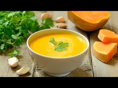 Приготовить Тыквенный суп-пюре | Вкусный крем суп из тыквы онлайн видео