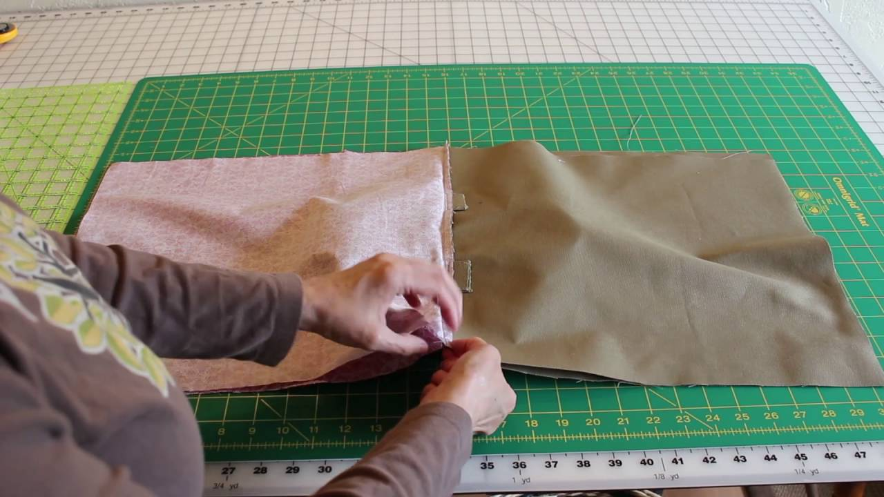 How to make a simple book bag - YouTube