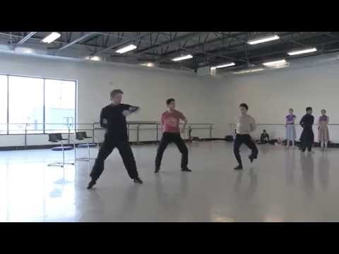 "Artists of Colorado Ballet rehearse ""Fancy Free"""