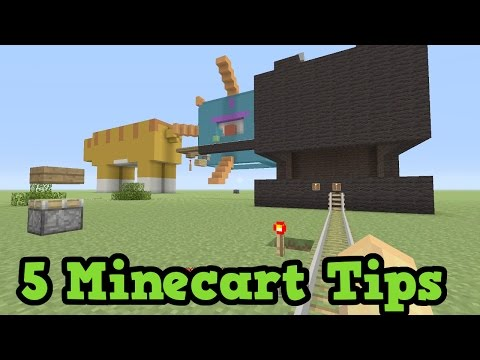 Minecraft Xbox - 5 Tips For MineCart Roller Coasters