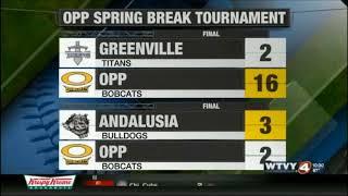 Opp Spring Break Baseball Tournament Recap 3-27-2018