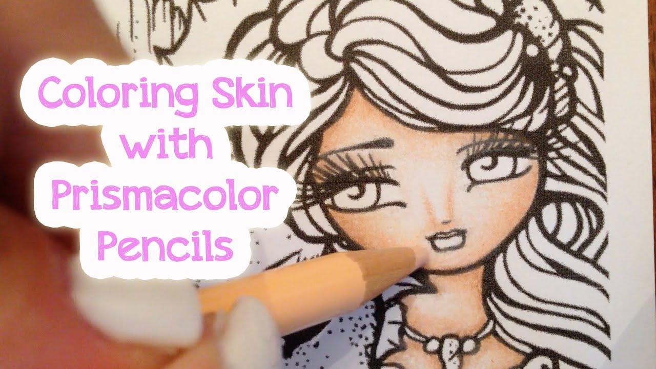 Prismacolor Pencils - Coloring Skin - YouTube