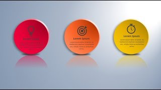 How to create 3d plates infographic in Microsoft PowerPoint. PPT tricks.