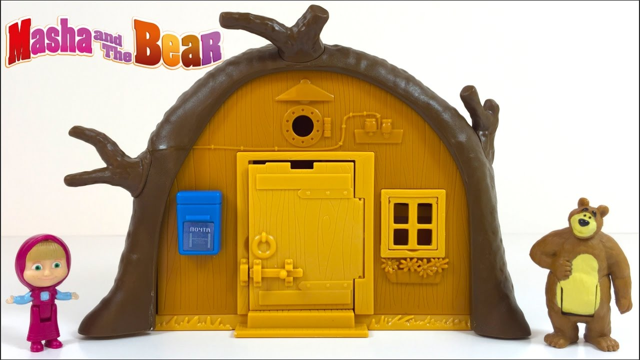 unboxing the bears house from masha and the bear story. Black Bedroom Furniture Sets. Home Design Ideas