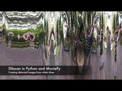 Creating Slitscan Images from Video in Python and MoviePy