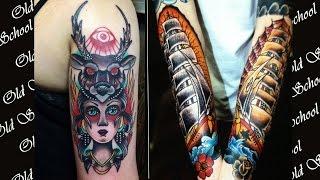 Татуировки в стиле Олд Скул. Значение фото эскизы. Old school