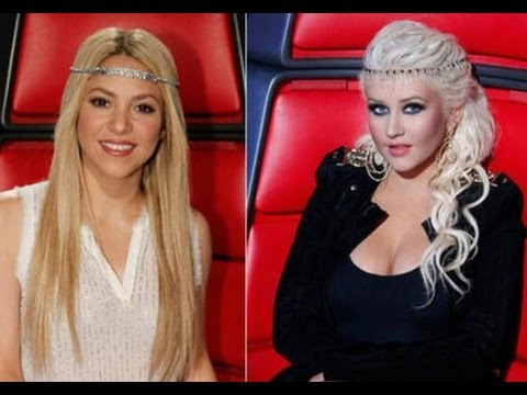 "CHRISTINA AGUILERA VS SHAKIRA ""THE VOICE"" COACHES & MOTHERHOOD"