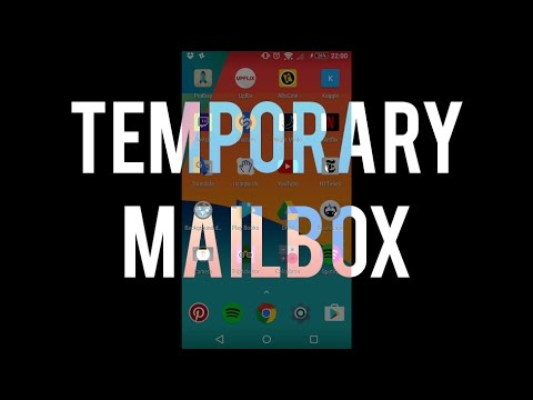 How to create a temporary mailbox on Android