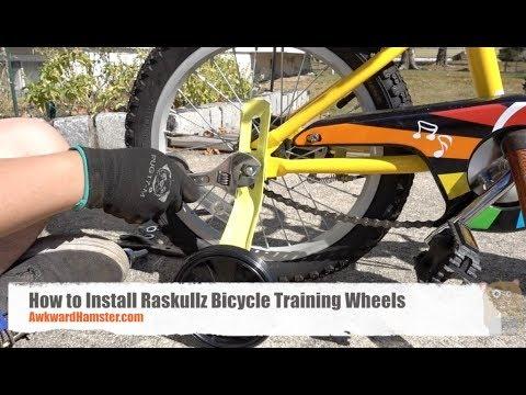 How To Install Raskullz Bicycle Training Wheels Youtube