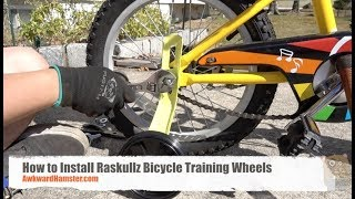 How to Install Raskullz Bicycle Training Wheels