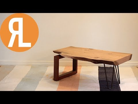 DIY Industrial Live Edge Coffee Table | Woodworking