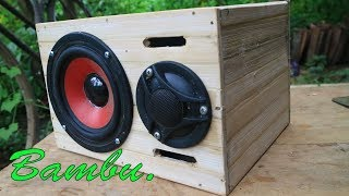 Cara Membuat BOX Speaker dari Bambu