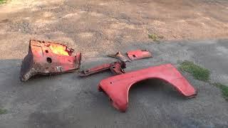 Реставрация (кузовной ремонт) ВАЗ 2106 в гараже, часть третья – обзор рем. части брызговика и стойки