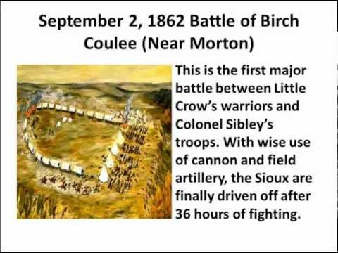 Dakota Conflict, Great Sioux Uprising of 1862 Timeline