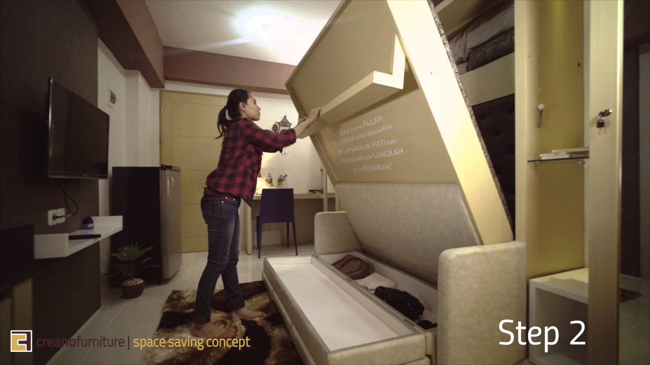 type of furniture design. Creano Space Saving Concept For 1 Bedroom (Studio Type) Apartment - YouTube Type Of Furniture Design G
