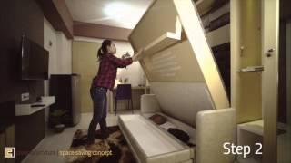 Creano Space Saving Concept for 1 Bedroom (Studio type) Apartment