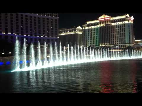 Las Vegas 2012 Belagio hotel fountains. Armenian music.