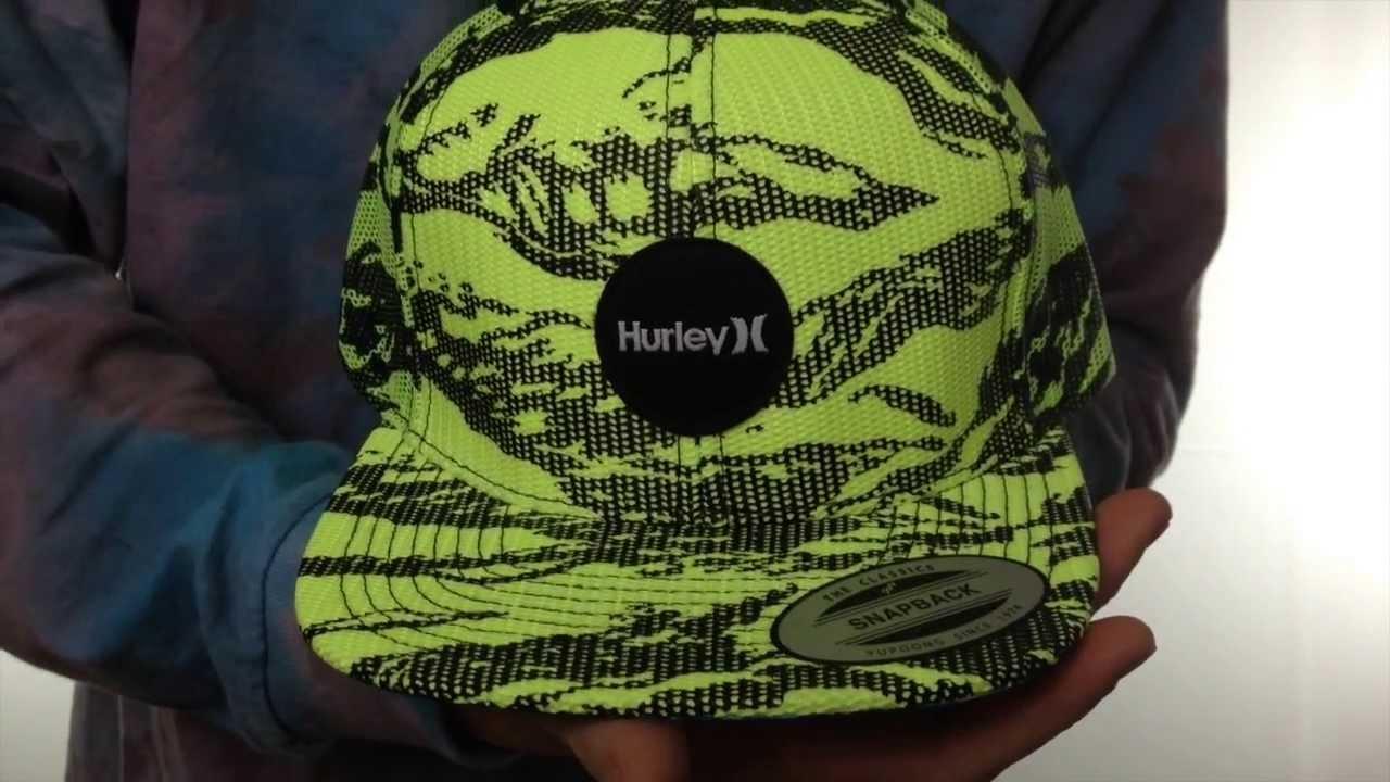 da341d5ac1d Hurley  KRUSH MESHER SNAPBACK  Yellow Trucker Hat - YouTube