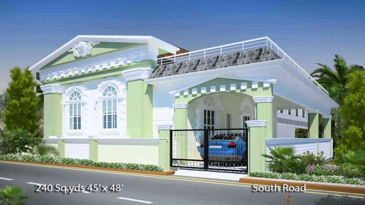 South indian house plans south facing youtube for South indian model house plan