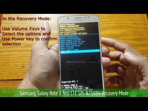 Samsung Galaxy Note 3 Neo LTE SM-N7509V Recovery Mode