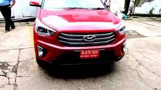 Creta From Hyundai Full View Interior and Exterior Red Passion Colour