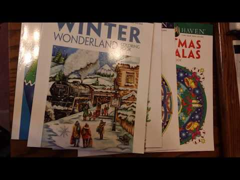 talking-about-creative-haven-&-dover-coloring-books-and-show-&-tell-of-my-collection