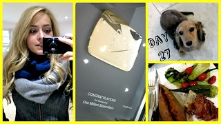 Gold Play Button & Dancing Piglet! Vlogtober 27