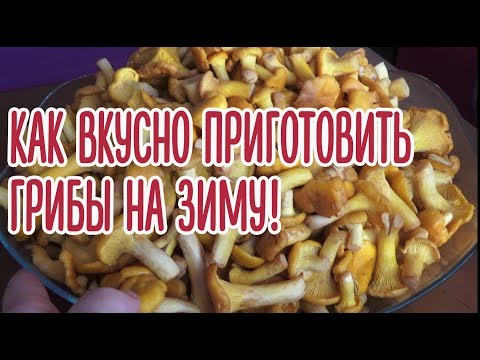 Как вкусно приготовить грибы лисички на зиму! Проверенный рецепт!